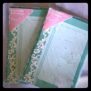 Lot of 16 bridal shower invites teal mint green 8